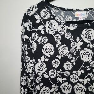 Lularoe Debbie Dress-  Roses XL